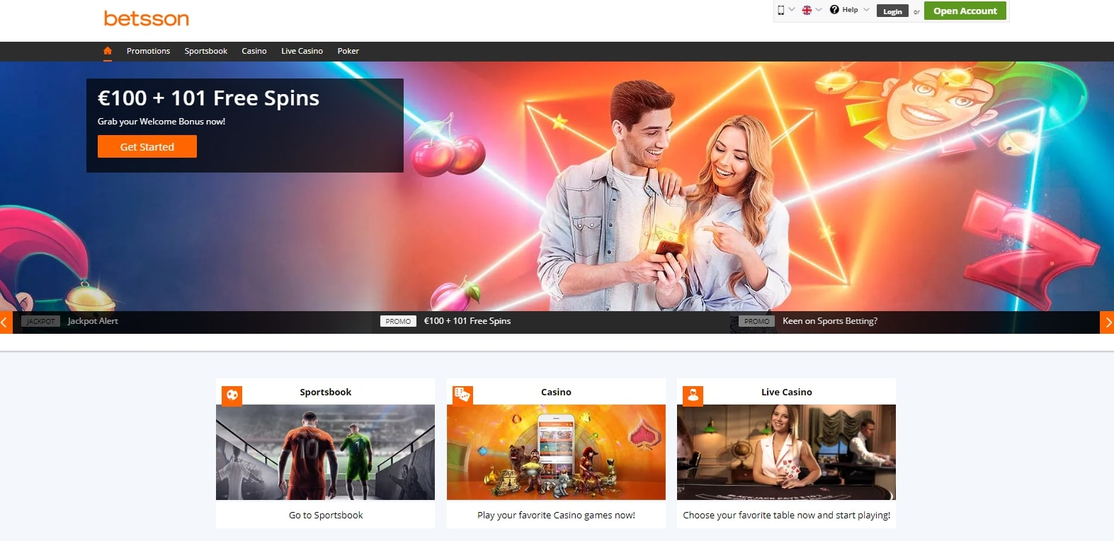 Betsson casino review : a reliable casino ?